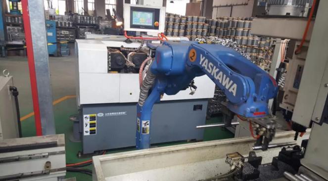 数控铣床+机器人为电机转子轴铣削加工
