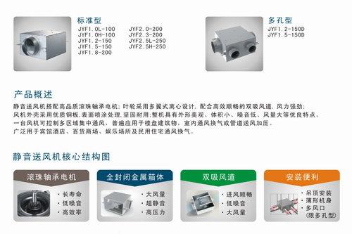 JYF系列静音送风机描述